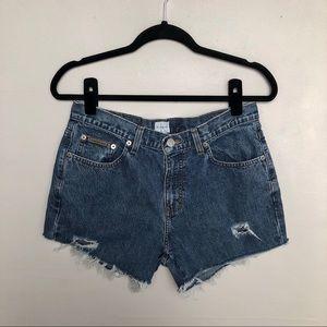 Calvin Klein | Vintage Distressed High Rise Shorts